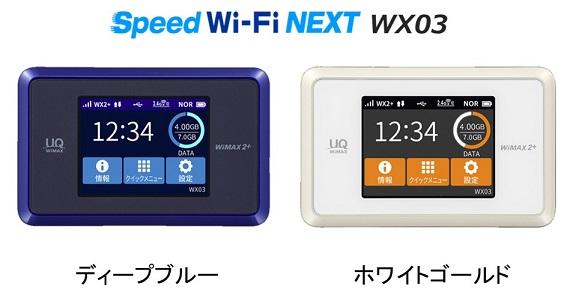 Speed Wi-Fi NEXT WX03